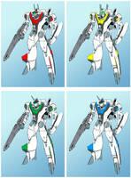VF-2SS Valkyrie II as VF-20 - Skull Squad by Grebo-Guru