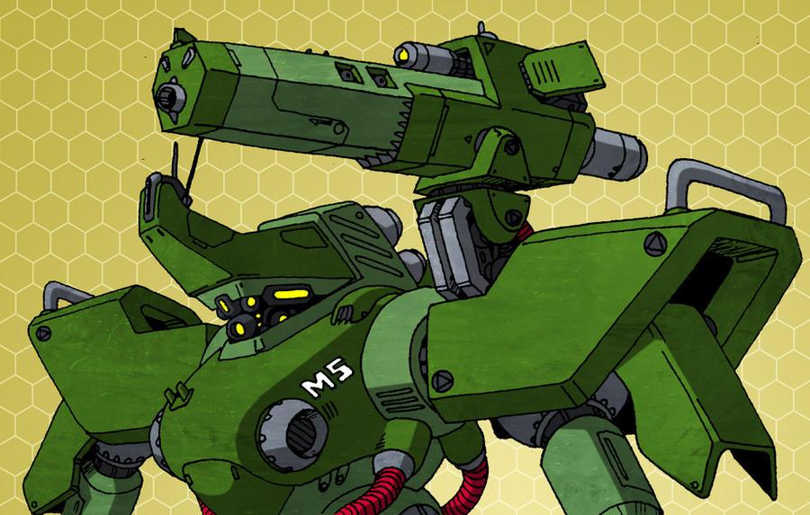 Mekton Tech - External Weapon Mount by Grebo-Guru