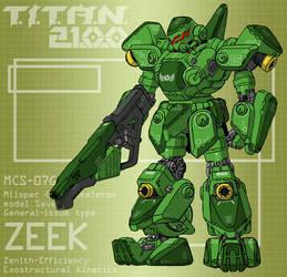 ZEEK with assault rifle (for T.I.T.A.N. 2100) by Grebo-Guru