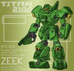 ZEEK with assault pistol (for T.I.T.A.N. 2100)
