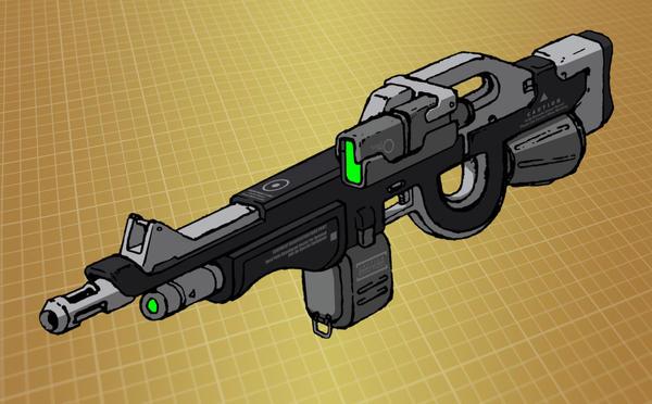 Mecha battle rifle (for T.I.T.A.N. 2100) by Grebo-Guru