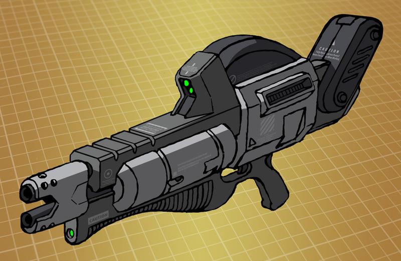 Mecha shotgun (for T.I.T.A.N. 2100) by Grebo-Guru
