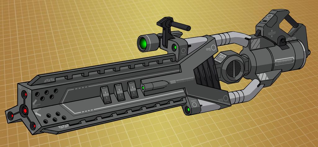 Mecha laser cannon (for T.I.T.A.N. 2100) by Grebo-Guru