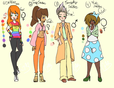 Free Skittles Adopts! (See Desc.) (CLOSED) by MightyMinako