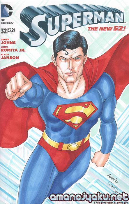 Superman #32 (2014) by amanojyaku