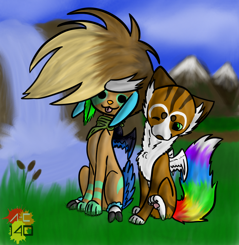 Heelo and Zegas by Animal-Cartoonist140