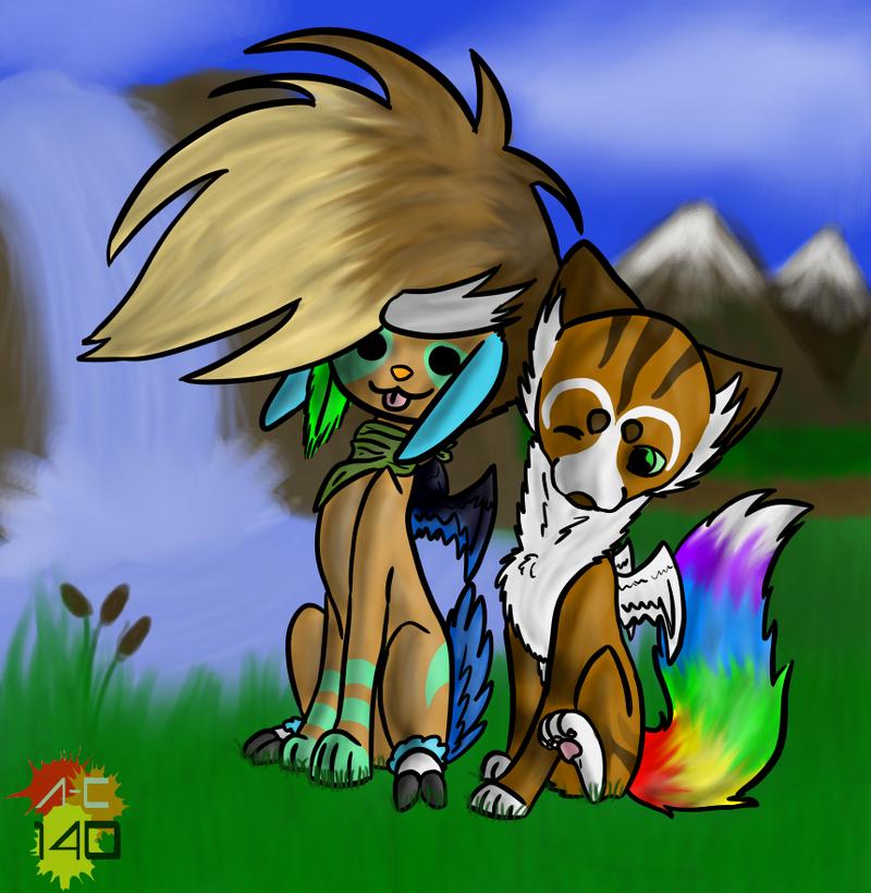 Heelo and Zegas by Animal-Cartoonist140