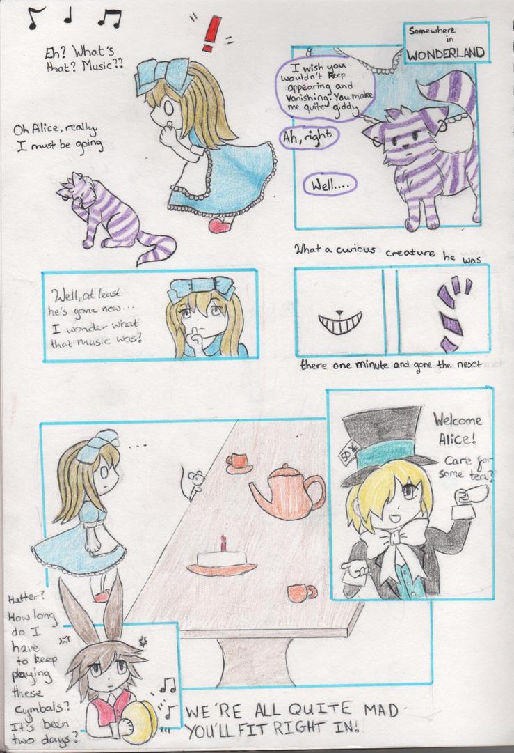 Alice in Wonderland mini manga by Sparklemily6355