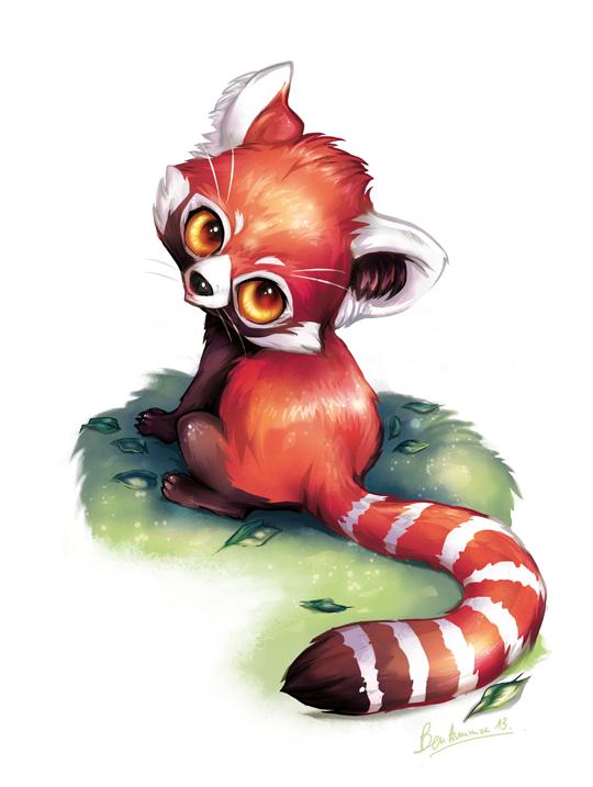 Red panda by benedicte ammar on deviantart - Panda roux dessin ...