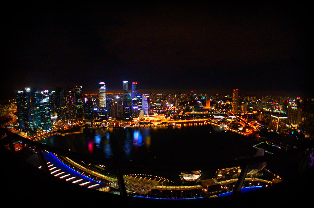 Marina Bay Sands Infinity Pool view by n0xnoctis on DeviantArt