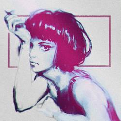 Girl with a cigarette by NIGOGOLEV