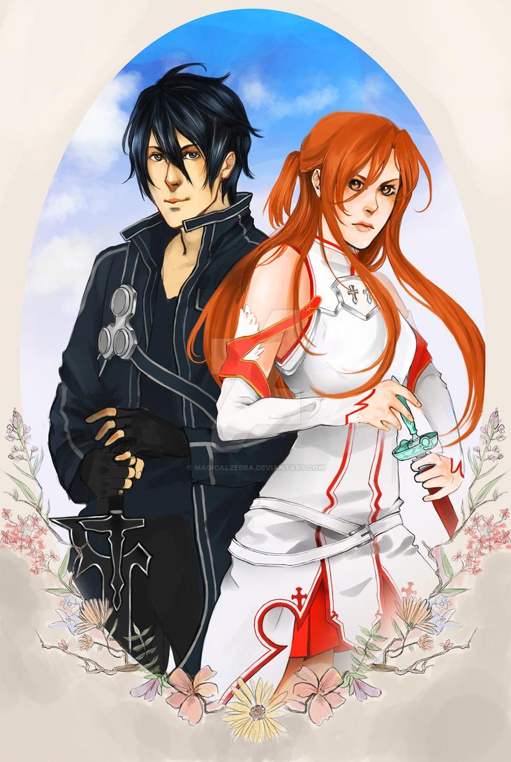 Sword Art Online - Kirito and Asuna by magicalzebra on ... Kirito And Asuna