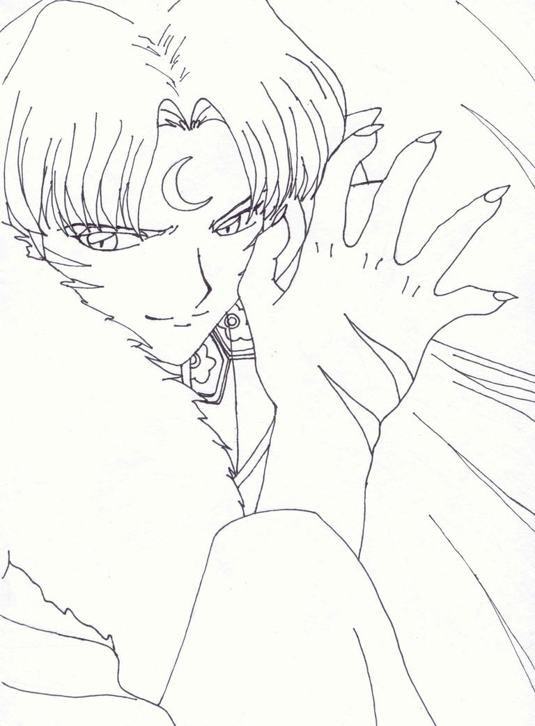 sesshomaru coloring pages-#20