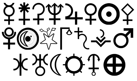 Astronomical Symbols by LucianSong