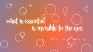 What is essential is invisible to the eye. by v1k0s