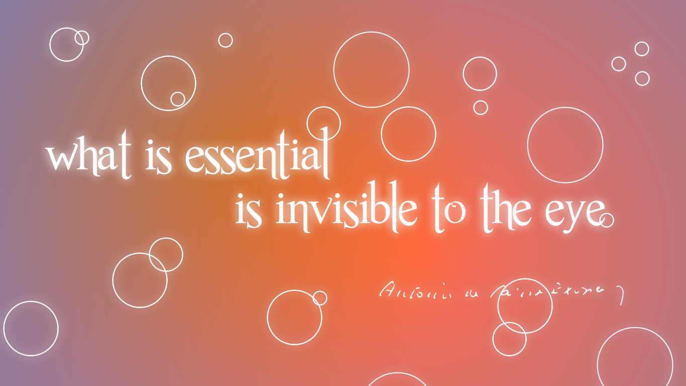 That Which Is Essential Is Invisible To The Eyes: What Is Essential Is Invisible To The Eye. By V1k0s On