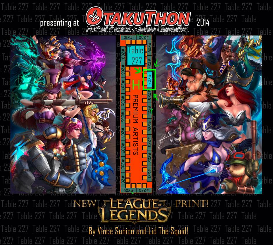 League of Legends Otakuthon by LidTheSquid