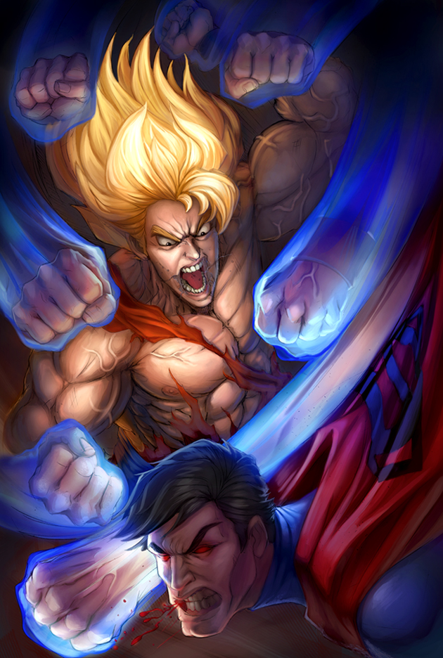 Goku VS Superman  by LidTheSquid