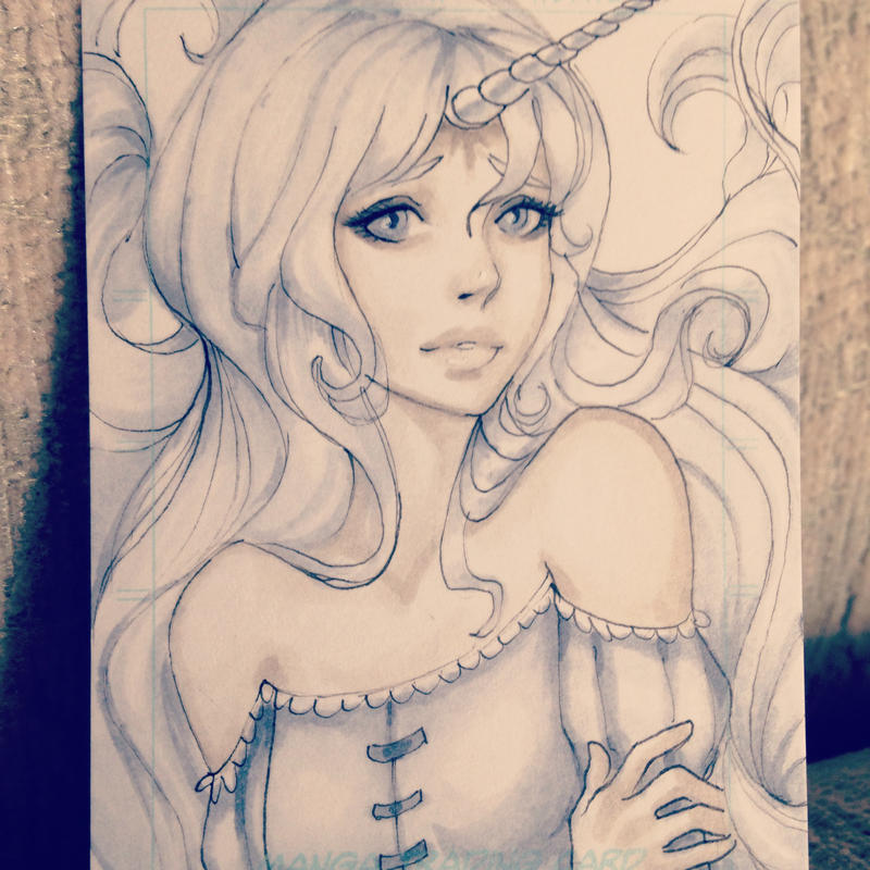 Lady Amalthea aka The last Unicorn by LidTheSquid
