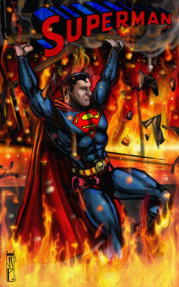 Superman Painting by ChrisPendergraft