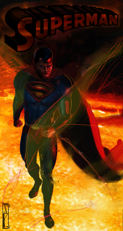 Superman Walking On The Sun by ChrisPendergraft