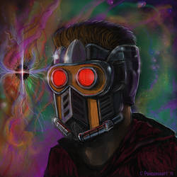 Starlord - oil on board by ChrisPendergraft