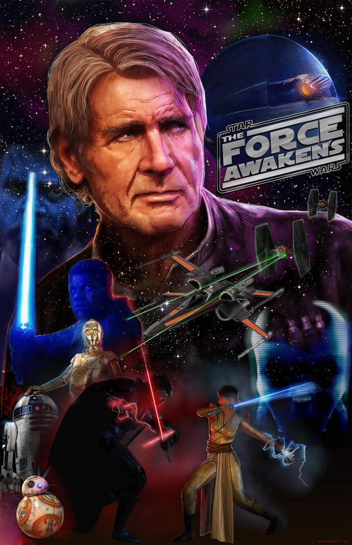 Star Wars : The Force Awakens Movie Poster by ChrisPendergraft