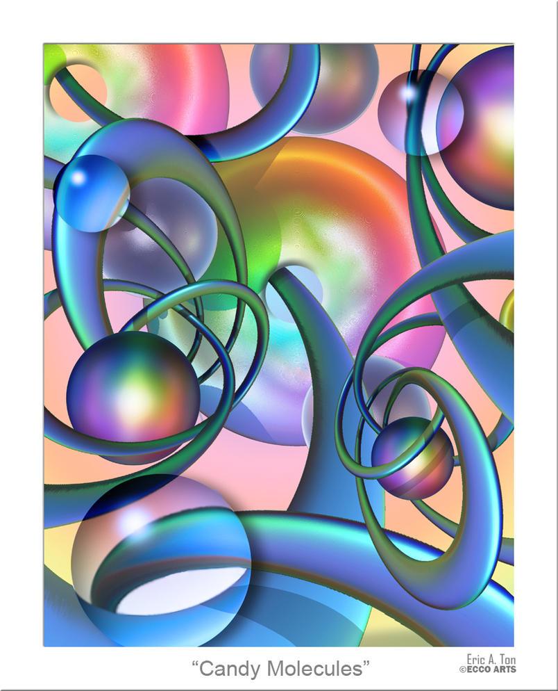 Candy Molecules by eccoarts