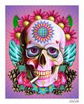 Smoking Skull by EricTonArts