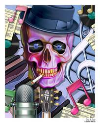 Jazz Skull by EricTonArts