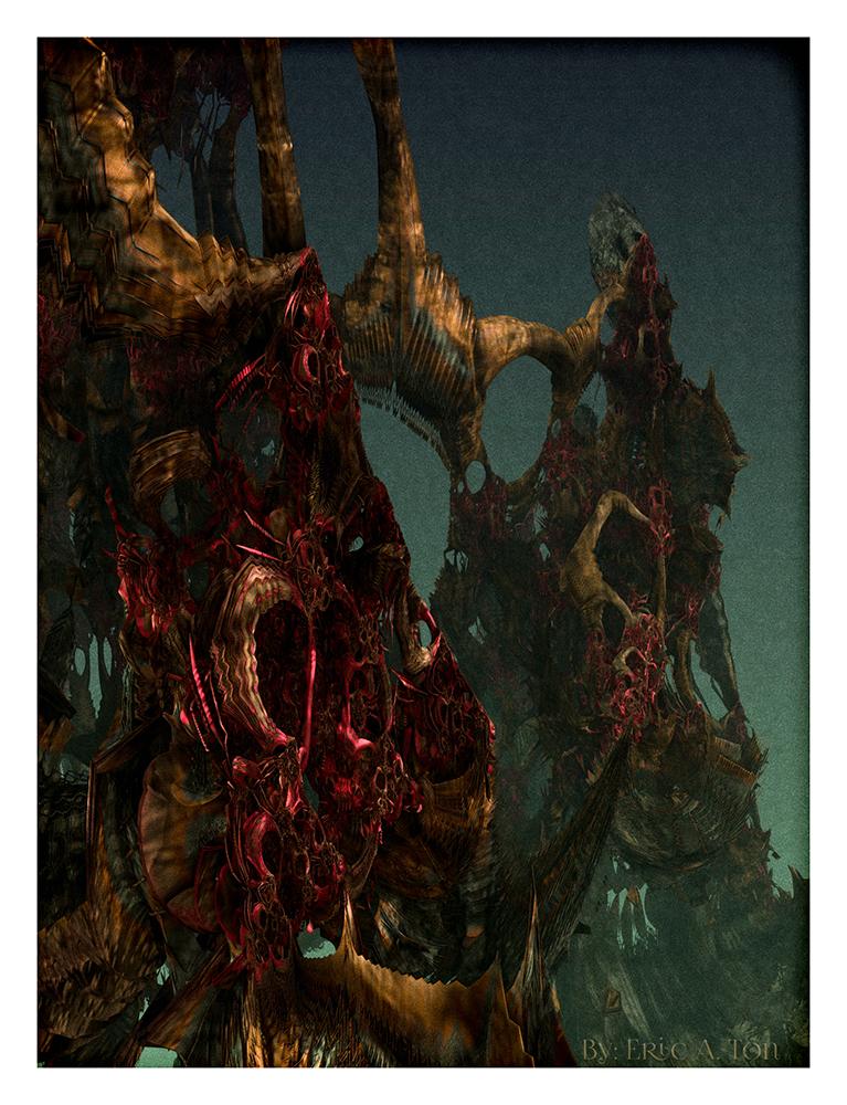 Blood Shimmer Peaks by eccoarts