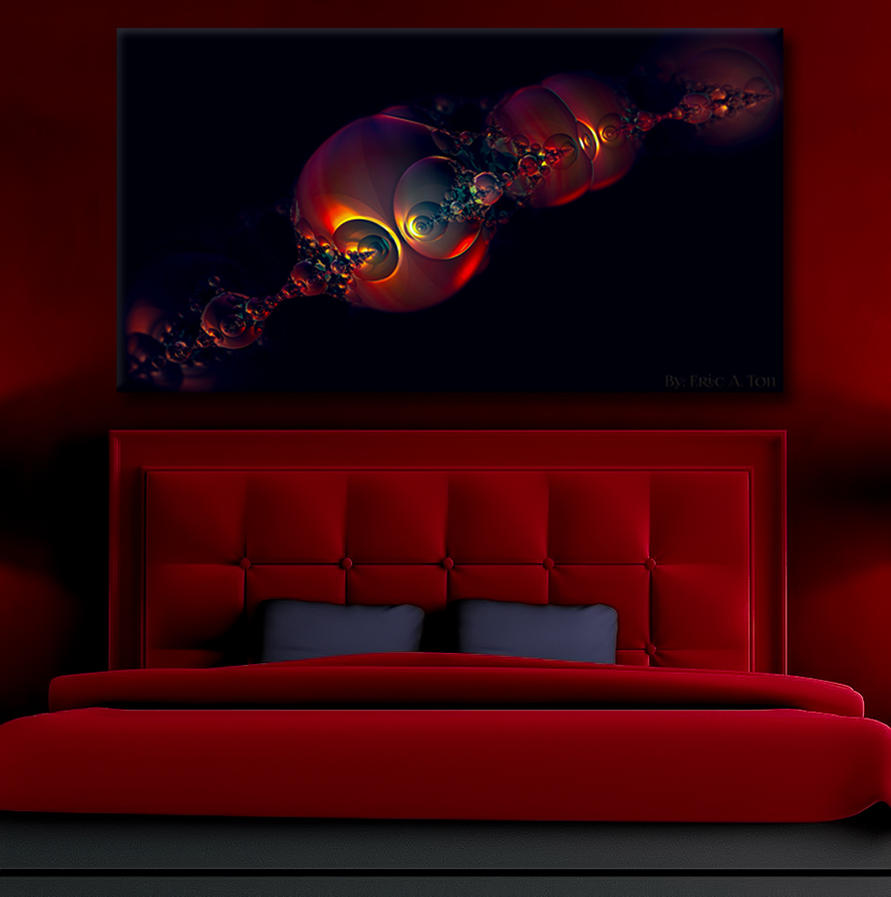 Scarlet Night (on wall) by eccoarts