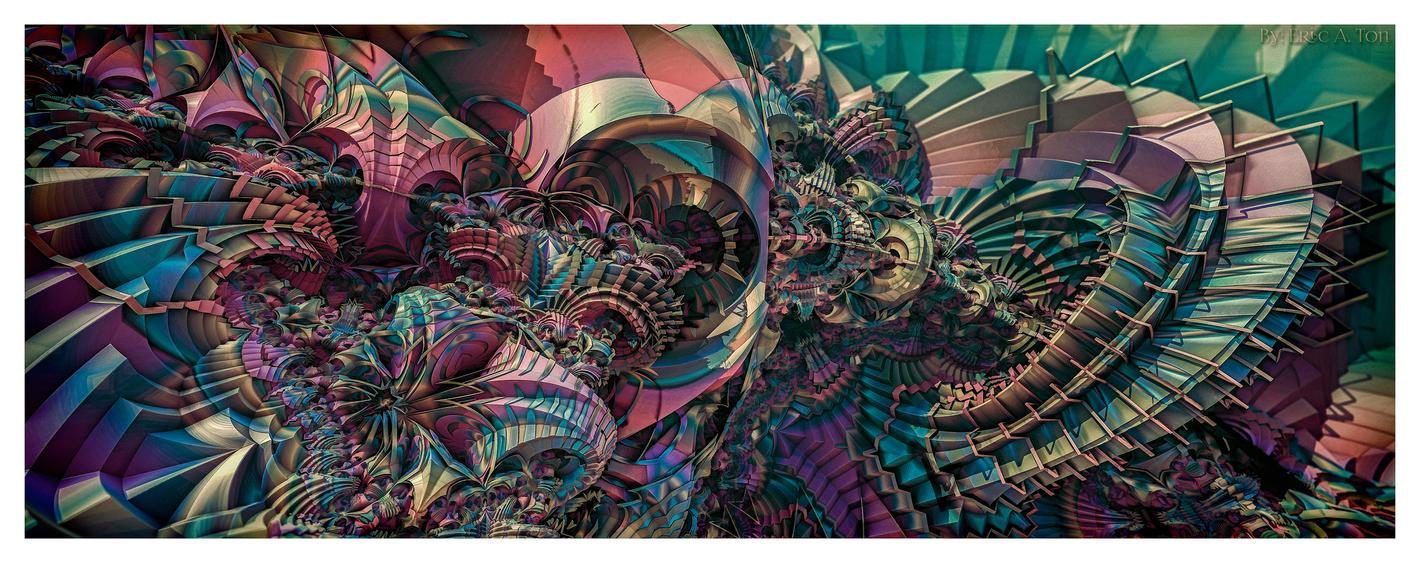 Vintage Pychedelia III by eccoarts