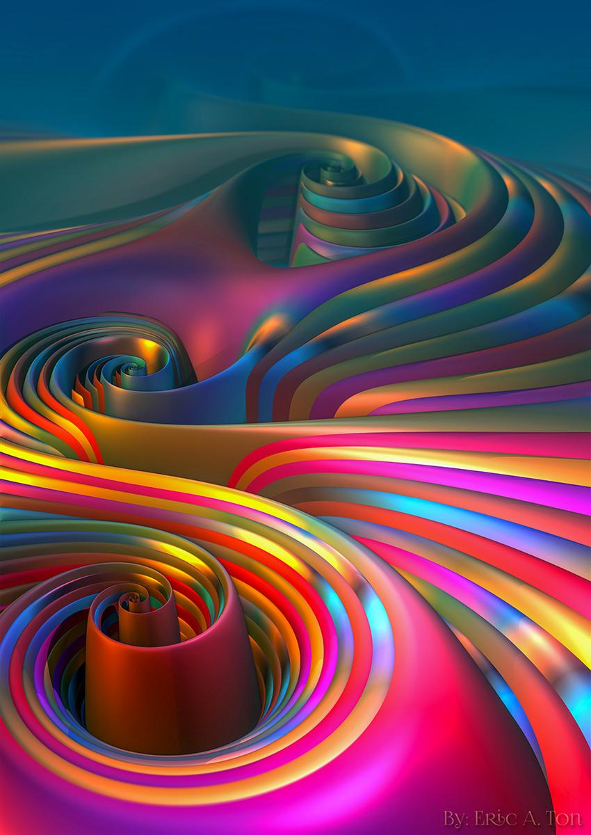 Rainbow Rush by EricTonArts