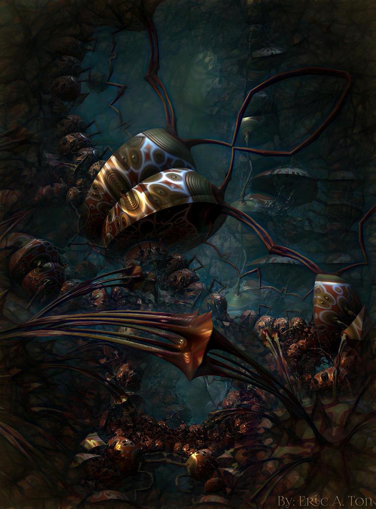 Shadow Crawlers by EricTonArts