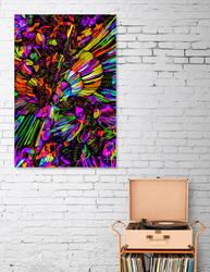 Sunflower Madness (framed) by EricTonArts