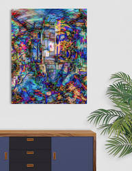 Color Construct (framed) by EricTonArts