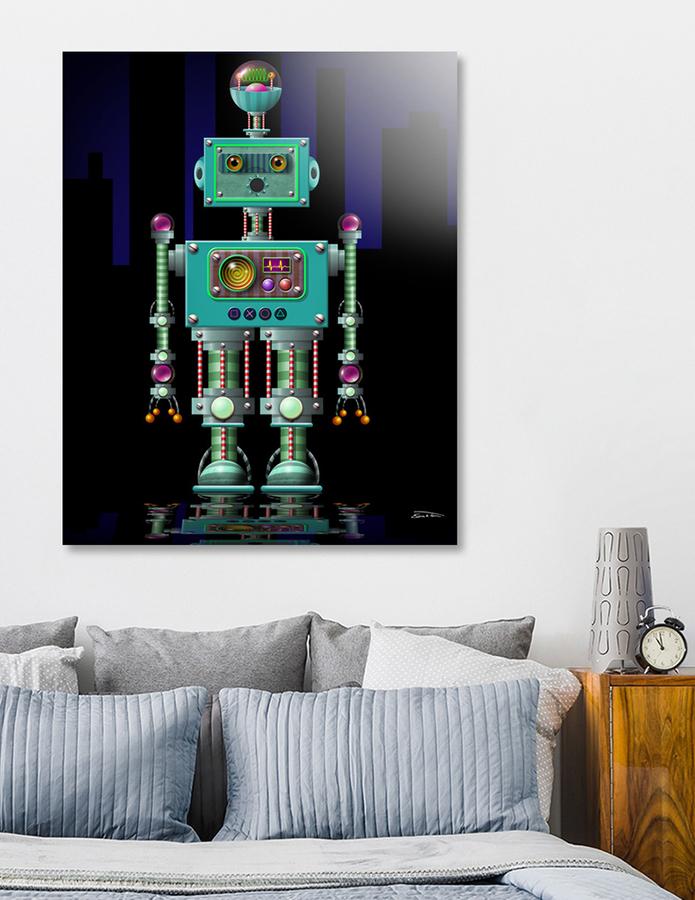 QuequeBot (acrylic print) by EricTonArts