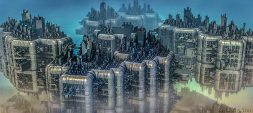 Sky City by EricTonArts