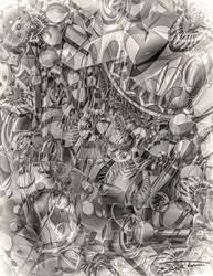 Stream Of Consciousness Doodle I by EricTonArts