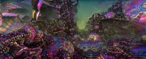 Eroding Psychedelic Landscape