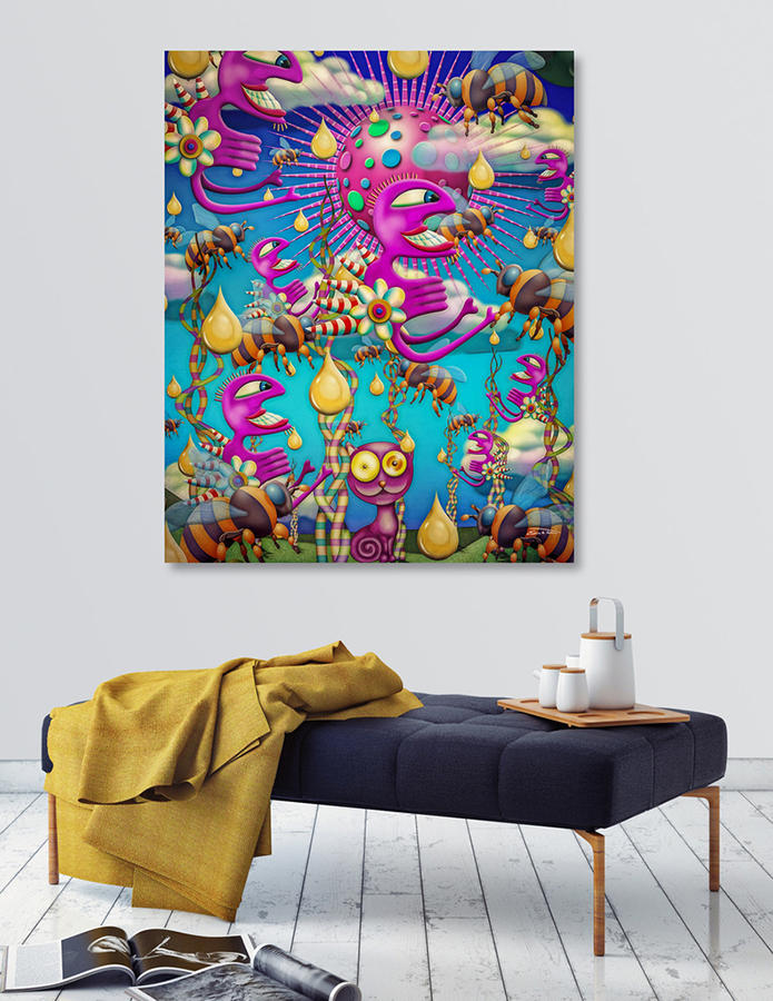 Honey Rain (canvas print)