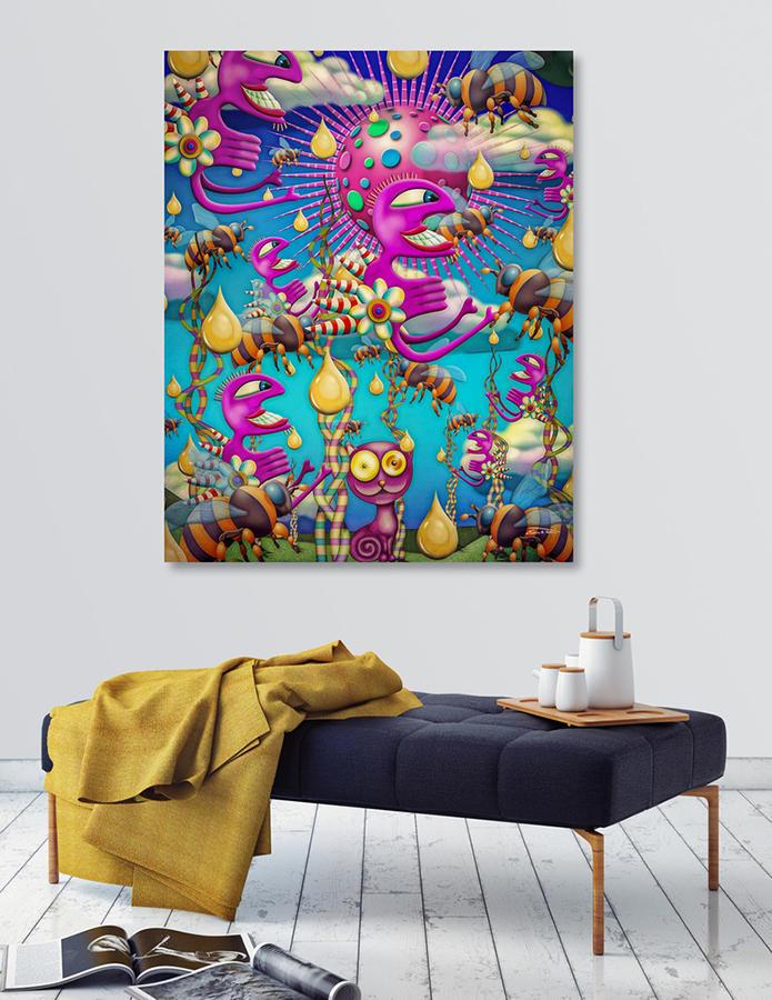 Honey Rain (canvas print)