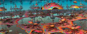 Psychedelic Fractal Landscape I