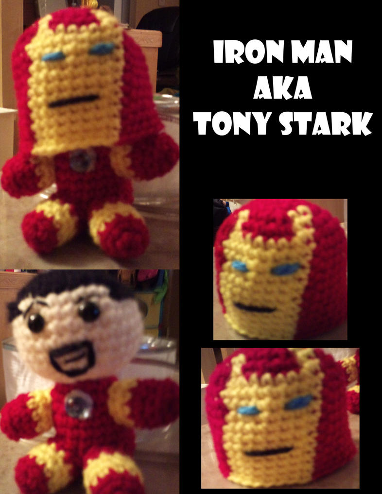 Amigurumi Iron Man/Tony Stark by Vulkingzor