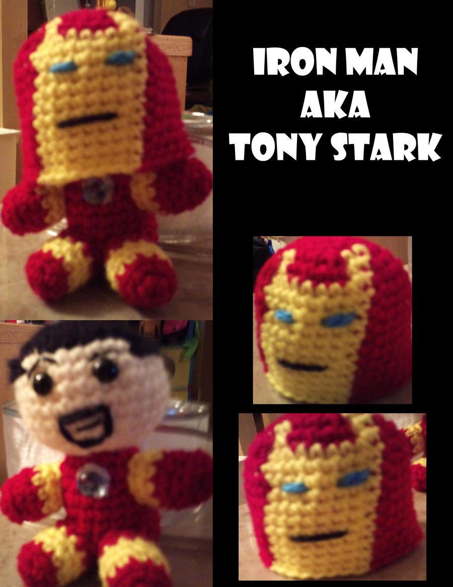 Amigurumi Iron Man/Tony Stark by Vulkingzor