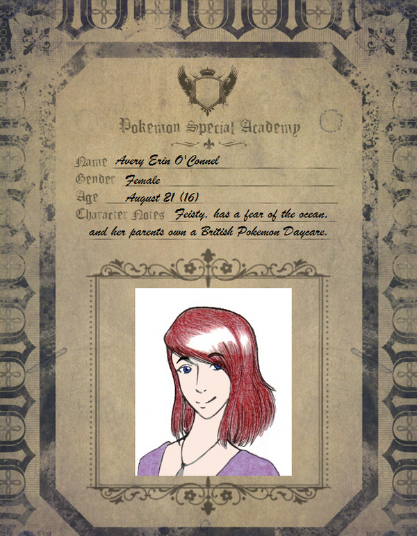 PSA Application Sheet: Avery Erin by shaolinfan1