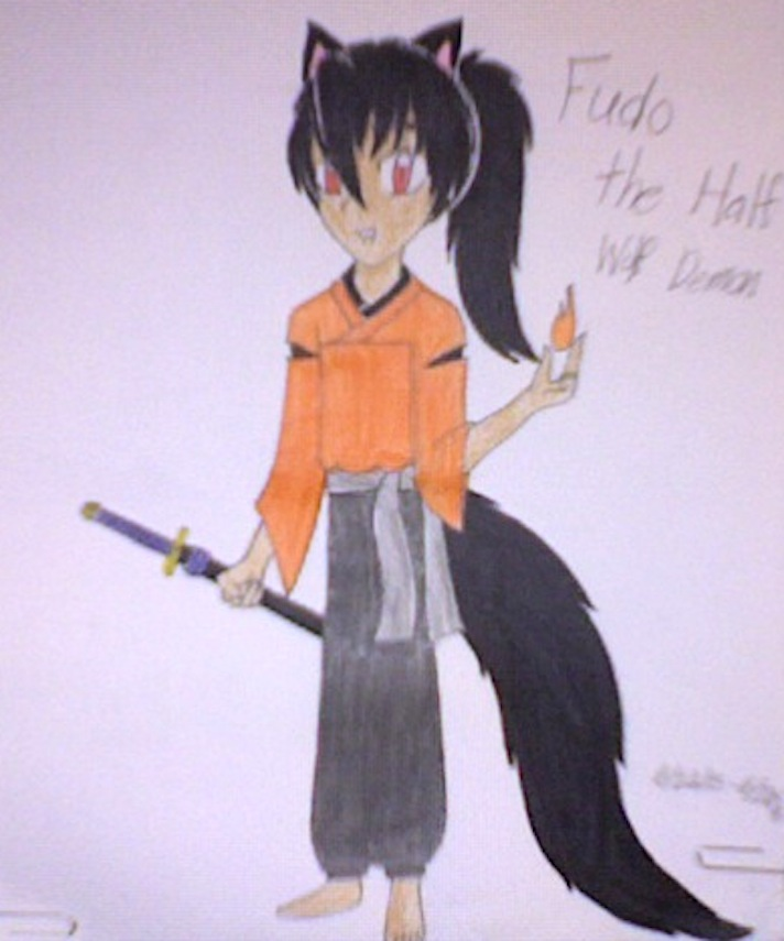 Half Wolf Demon Of Fire And Wisdom Inuyasha Oc By