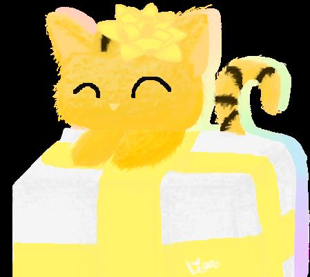 Cute Birthday Cat  [FREE TO USE] by Cutylilian