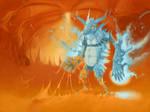 fiery dragon by LoZovoy